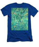 Cracks In Blue Men's T-Shirt (Athletic Fit)