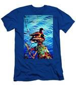Ducks On A Log Men's T-Shirt (Athletic Fit)