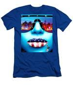 Fashionista Miami Blue Men's T-Shirt (Athletic Fit)