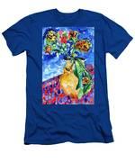Flip Of Flowers Men's T-Shirt (Athletic Fit)