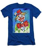 Happy Clown-ideal For Childrens Nurserys Men's T-Shirt (Athletic Fit)