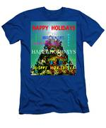 Happy Holidays Word Splash A Men's T-Shirt (Athletic Fit)
