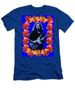 Jerry In Blue With Rose Frame Men's T-Shirt (Athletic Fit)