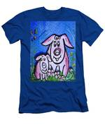 Mummy And Baby Pig  Men's T-Shirt (Athletic Fit)