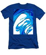 Pure Water 315 - Blue Abstract Art By Sharon Cummings Men's T-Shirt (Athletic Fit)