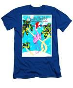 Santa Baby Flamingo Men's T-Shirt (Athletic Fit)