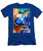 Serenity Prayer 4 - By Sharon Cummings Men's T-Shirt (Athletic Fit)