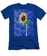 Stained Glass  Sunflower Over The Blue Sky Men's T-Shirt (Athletic Fit)