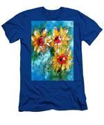 Sunflower Study Painting Men's T-Shirt (Athletic Fit)