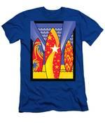 Surf Boards Retro Art Deco Men's T-Shirt (Athletic Fit)