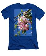 Weeping Cherry Tree Blossoms Men's T-Shirt (Athletic Fit)