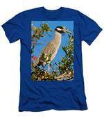 Yellow Crown Night Heron Men's T-Shirt (Athletic Fit)