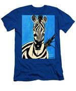 Zebra Portrait 5 Men's T-Shirt (Athletic Fit)