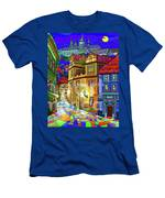 Prague Old Street Men's T-Shirt (Athletic Fit)