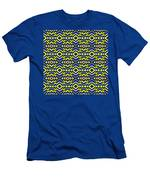 Blue And Yellow Chevron Pattern Men's T-Shirt (Athletic Fit)