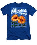 Two Sunflowers Men's T-Shirt (Athletic Fit)