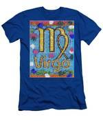 Virgo Zodiac Mosaic Men's T-Shirt (Athletic Fit)
