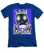 Voodoo King Sugar Skull Angel Men's T-Shirt (Athletic Fit)