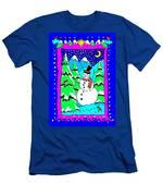 Winter Snowman Men's T-Shirt (Athletic Fit)