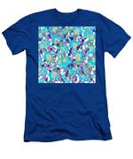 Spring Summer Flowers In Vintage Style. Seasons Floral Pattern Men's T-Shirt (Athletic Fit)