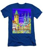 Prague Old Town Square Men's T-Shirt (Athletic Fit)