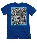 Abraxas Collage Men's T-Shirt (Athletic Fit) by Visual Artist Frank Bonilla