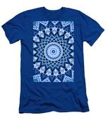 Abstract Blue 17 Men's T-Shirt (Athletic Fit)