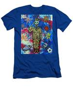 Air Force Day Of The Dead Men's T-Shirt (Athletic Fit)
