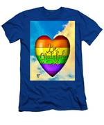 Be Grateful Gay Heart Men's T-Shirt (Athletic Fit)