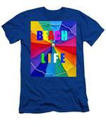 Beach Life Smart Phone Work A Men's T-Shirt (Athletic Fit)