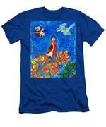 Bird People Robin Men's T-Shirt (Athletic Fit)