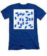 Blue And White Capsules Men's T-Shirt (Athletic Fit)