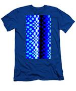 Blue Black Pattern Abstract Men's T-Shirt (Athletic Fit)
