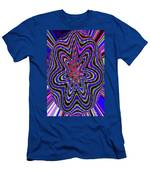 Blue White And Red Abstract #2944e2c Men's T-Shirt (Athletic Fit)