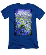 Carpet Of Blue Men's T-Shirt (Athletic Fit)