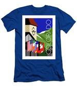 Colorado Vail Clocktower Men's T-Shirt (Athletic Fit) by Sam Brennan