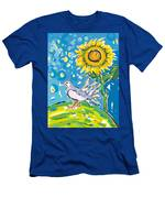 Dove And Sunflower Men's T-Shirt (Athletic Fit)