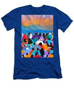 Fire Rainbow Obama Men's T-Shirt (Athletic Fit)