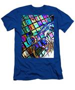 Glass Abstract 696 Men's T-Shirt (Athletic Fit)