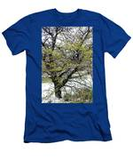 Honey Locust Tree On A Spring Snow Day Men's T-Shirt (Athletic Fit)