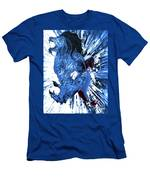Jd And Leo- Inverted Ice Blue Men's T-Shirt (Athletic Fit)