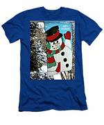 Let It Snow - Happy Holidays Men's T-Shirt (Athletic Fit)