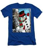 Let It Snow - Happy Holidays Men's T-Shirt (Athletic Fit)