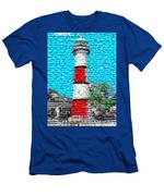 Lighthouse Made Of Lighthouses Mosaic Men's T-Shirt (Athletic Fit)