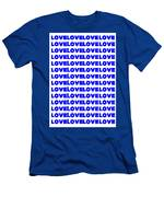 Love In Blue Men's T-Shirt (Athletic Fit)