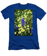 Lupine Amidst Tidy Tips Men's T-Shirt (Athletic Fit)