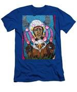 Mardi Gras Indian Apron Detail Men's T-Shirt (Athletic Fit)