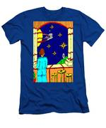 Ms Cleo On A Balcony In Paradise Men's T-Shirt (Athletic Fit)