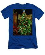 Neon Christmas Tree Men's T-Shirt (Athletic Fit)