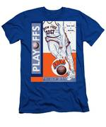 New York Knicks V Boston 1967 Playoff Program Men's T-Shirt (Athletic Fit)